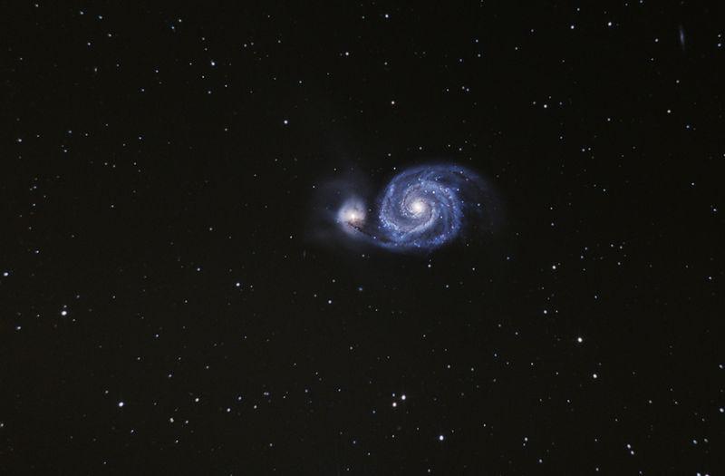 """Резултат с изображение за Шарл Месие открива спиралната галактика """"Водовъртеж"""" (M51)."""