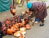 An African woman who sells African art; No comments