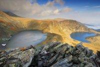 езерата  Окото и Бъбрека  - поглед от Езерния връх, Рила ; Коментари:11