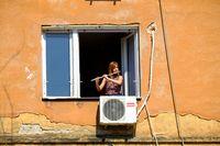 Уличен музикант на прозорец 2; comments:19