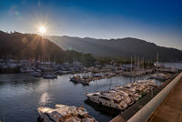 Sunrise over the yacht marina; comments:5