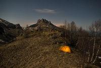 Про палатку в ночи и облачко над горой; comments:7