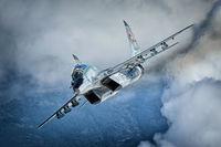 Български МиГ-29УБ в небето на България Коментари: 50 Гласували: 158