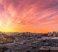 Панорамен залез над града; comments:4
