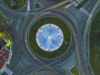 Един от фонтаните на Пазарджик от високо; comments:5
