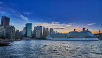 Sydney Harbour at sunset; comments:5