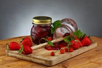 homemade strawberry jam; comments:8