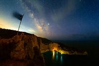 Млечният път над плаж Navagio, Zakynthos; comments:2