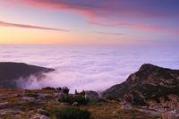 Море от мъгла по залез - Рила; comments:13