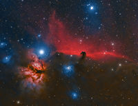 IC 434 Horsehead Nebula and Flame Nebula; comments:14