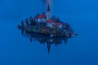 Синия час езерото Блед, Словения...; comments:10