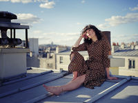 On a parisian rooftop with Nathalie; No comments