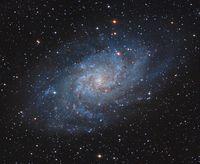 M33 - Спираловидна галактика в съзвездието Триъгълник; comments:8