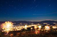Новогодишната нощ над Кюстендилската котловина. Поглед от Осогово.; comments:2