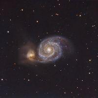 M51 Галактиката Водовъртеж в съзвездието Ловджийски кучета; comments:10