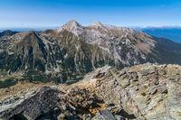 Изглед от връх Тодорка към връх Вихрен и Кутело; comments:3