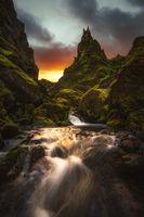Един скрит каньон в Исландия; comments:8