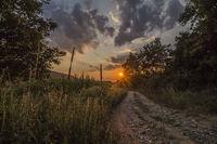 Селска идилия по залез слънце; comments:5