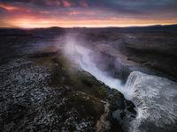 Водопадът Детифос по залез; comments:5