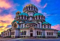 Залез над Катедрала Свети Александър Невски; comments:1