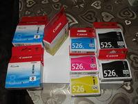 разпродажба на оргинални мастила на канон 525 526 и 8 за 7лв бр