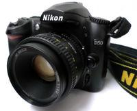 Nikon D50 с обектив Nikon AF Nikkor 50mm f/1.8 D