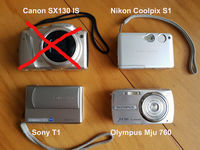 Nikon S1, Sony T1 , Olympus Mju 760