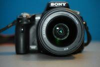 Sony a35 с обектив 18-55