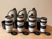 Canon EF 70-200 f/4L USM, EF 70-200 f/2.8L USM, EF 100-400 f/4.5-5.6L IS USM