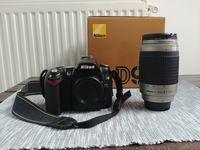 Продавам NIKON D90 + Nikkor AF Nikkor 70-300mm 1:4-5,6 G