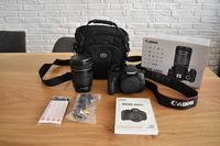 Продавам Canon 600D + EF-S 18-135 kit