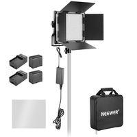 LED панел Neewer NL660/ диода/ Bi-color + 2 батерии 6600мАч +захранване от мрежата