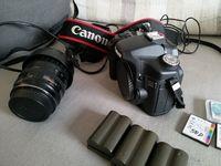 EOS 50D + чанта + аксесоари + обектив