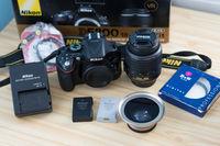 Nikon D5200 , Nikkor 18-55mm f/3.5-5.6G VR + аксесоари