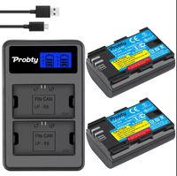 LP-E6 батерия за Canon 2650 mAh и USB Зарядно с LCD дисплей - НОВИ!