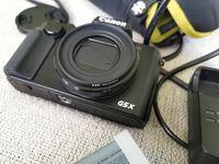 Canon G5X с две оригинални батерии, поставен адаптор за филтри и чантичка