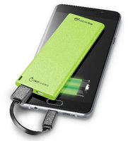 Cellular Line Power Bank FreePower Slim 3000 mAh, в зелено