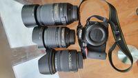 Фотоапарат Nikon D5500 и 3 обектива за него