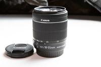 Canon EF-S 18-55mm F/3.5-5.6 IS STM - Filter Ø: 58mm  SN 304204080435