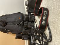 Комплект безогледален фотоапарат Canon EOS M5 + 4 обектива + раница + два адаптера + втора батерия