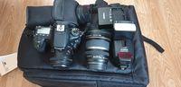 Canon 70D+2 обектива+светкавица+нова фотораница