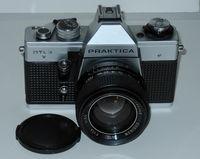 Praktica DTL3 with fast lens Cosinon Auto 1.4/55mm, M42