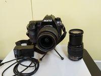 DSLR Pentax K-5 в комплект с два обектива Pentax китов обектив 18-55mm + Pentax ZOOM 50-200mm