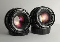 SMC Pentax M F/2 50mm и F/1,7 50mm обективи Asahi