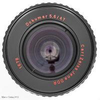 """рядко срещан обектив:""""DOKUMAR-5,6/47 mm"""" на Carl Zeiss Jena"""