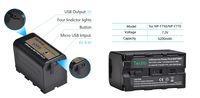 Универсална литиева батерия NP-F750, 7.2V, 5200mAh