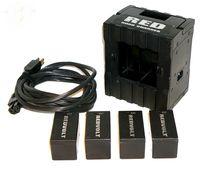 RED Redvolt four pack li-ion Batteries w/ DSMC Quad Charger
