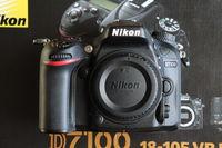 Nikon D7100 body на 7600 кадъра (Като нов, Пълен комплект)) + Обективи (85/1.8 и 40/2.8 макро)
