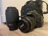 Nikon D5100 с два обектива