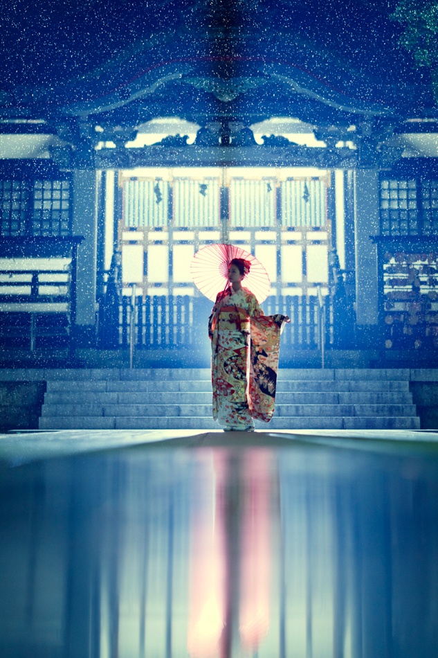Rainy Japanese Kimono Shot от Ilko Allexandroff - sir_sky